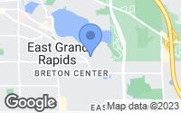 Map of East Grand Rapids, MI