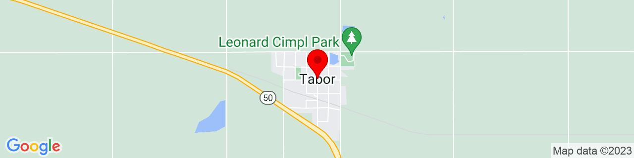 Google Map of 42.9486088, -97.658954