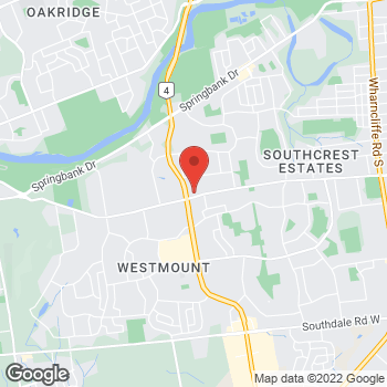 Map of Tim Hortons at 511 Commissioners Rd West, London, ON N6C 2T9
