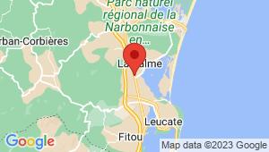 Carte de localisation du centre de contrôle technique BARDOS