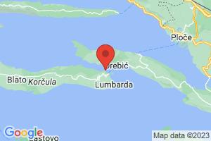 Map of Korcula