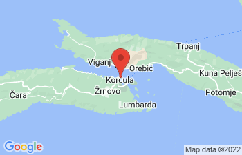 Map of Korcula