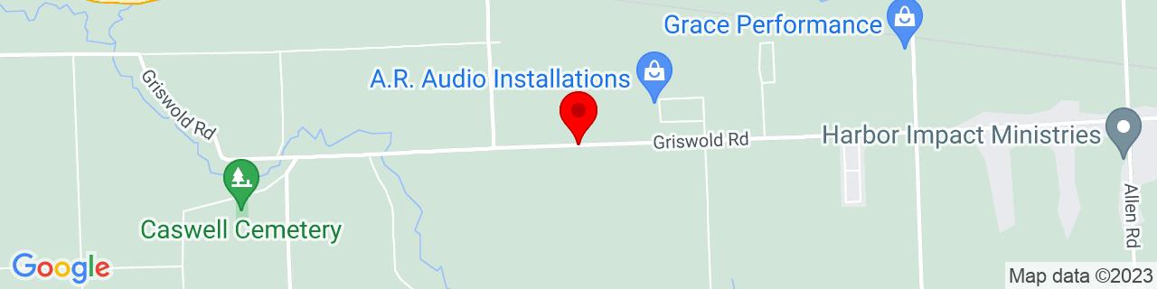 Google Map of 42.9625211, -82.5753295