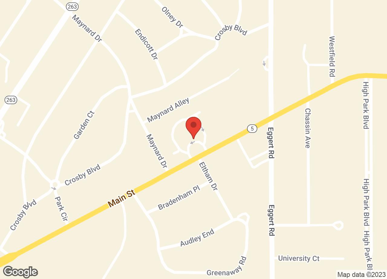 Google Map of VCA Blue Cross Animal Hospital of Amherst