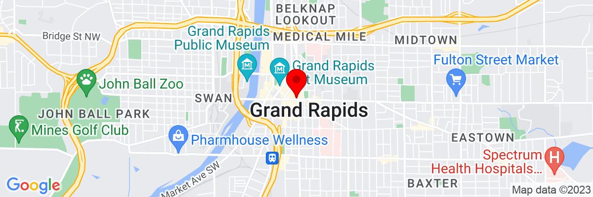 Google Map of 42.96336,-85.668086388889