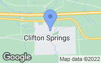 Map of Clifton Springs, NY