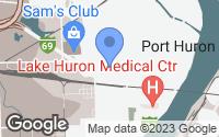 Map of Port Huron, MI