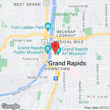Map of Panera Bread at 99 Monroe Ave NW, Grand Rapids, MI 49503