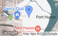 Map of Port Huron, MI