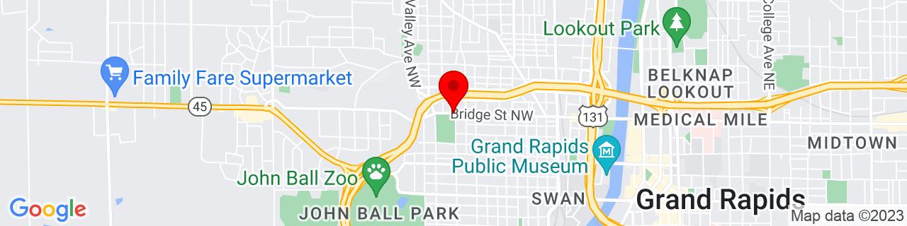 Google Map of 42.9709642, -85.6952263