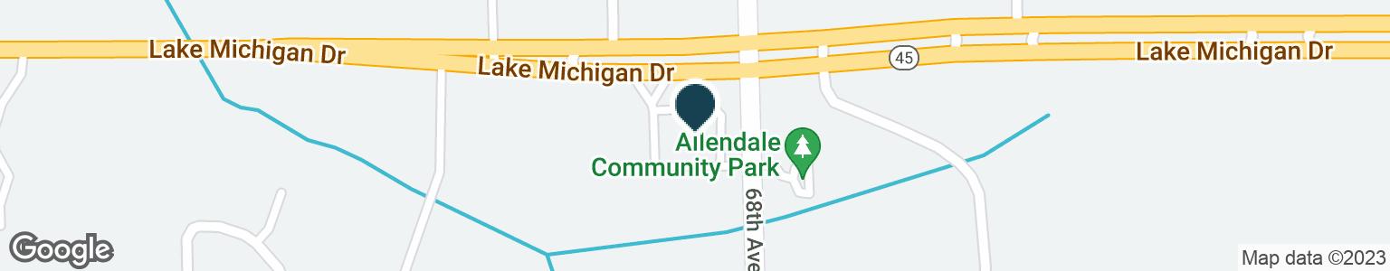 Google Map of6840 LAKE MICHIGAN DR