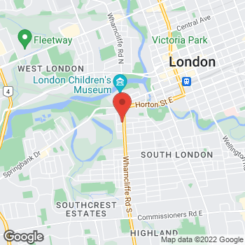 Map of Tim Hortons at 111 Wharncliffe Rd South, London, ON N6J 2K2
