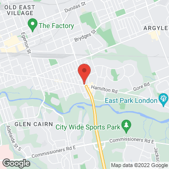 Map of Tim Hortons at 940 Hamilton Rd, London, ON N5Z 1W3