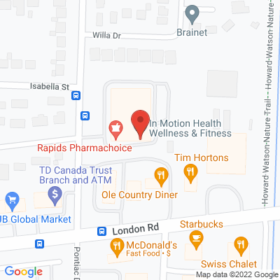In Motion Health Wellness & Fitness Static Google Map