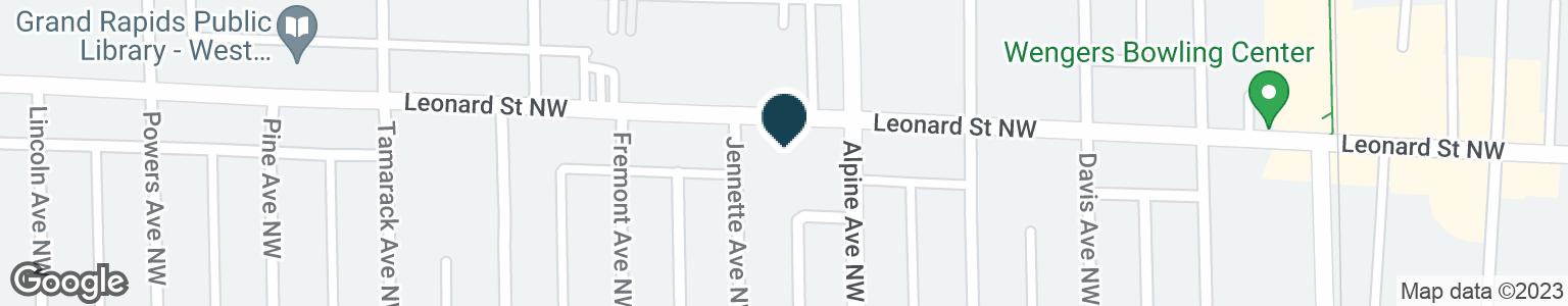 Google Map of800 LEONARD ST NW