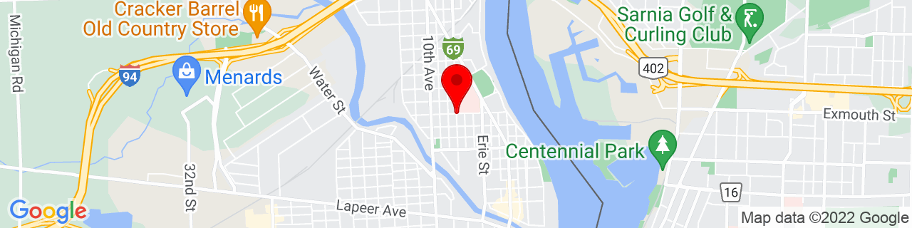 Google Map of 42.98521119999999, -82.4307087