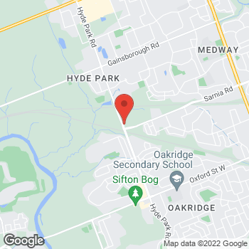 Map of Tim Hortons at 1175-1205 Hyde Park Rd, London, ON N6H 5K6