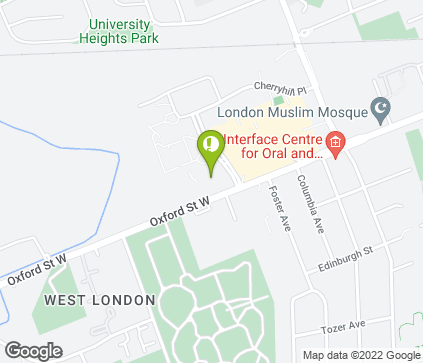 Map of 101 Cherryhill Blvd in London