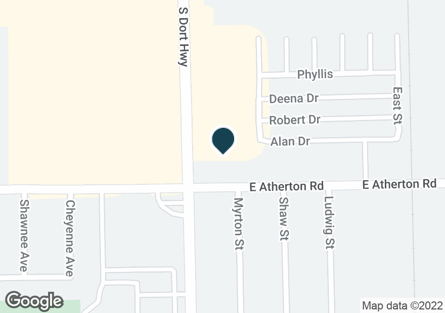 Google Map of3753 S DORT HWY