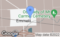 Map of Emmett, MI
