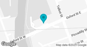 Google Map of London location