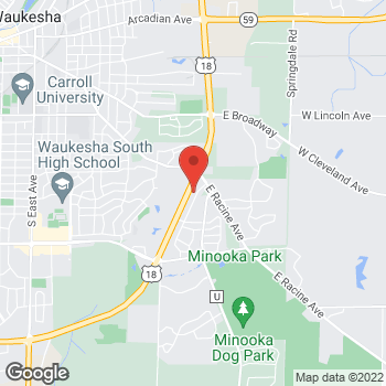 Map of Pizza Ranch at 930 Fleetfoot Dr., Waukesha, WI 53186
