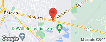 Map of 590 E Main St in Batavia