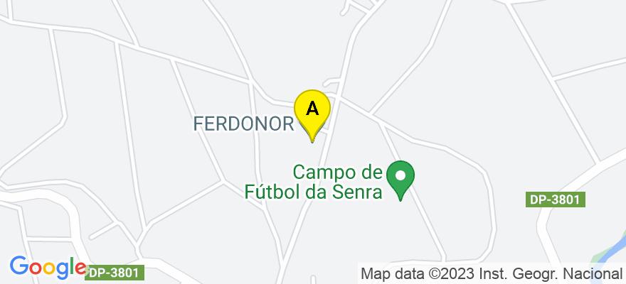 situacion en el mapa de . Direccion: Avenida Compostela, nº9, 1ºD, Sigüeiro, 15888 Oroso. A Coruña