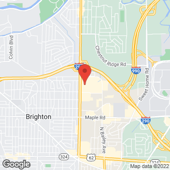 Map of Panera Bread at 1593 Niagara Falls Boulevard, Amherst, New York 14226