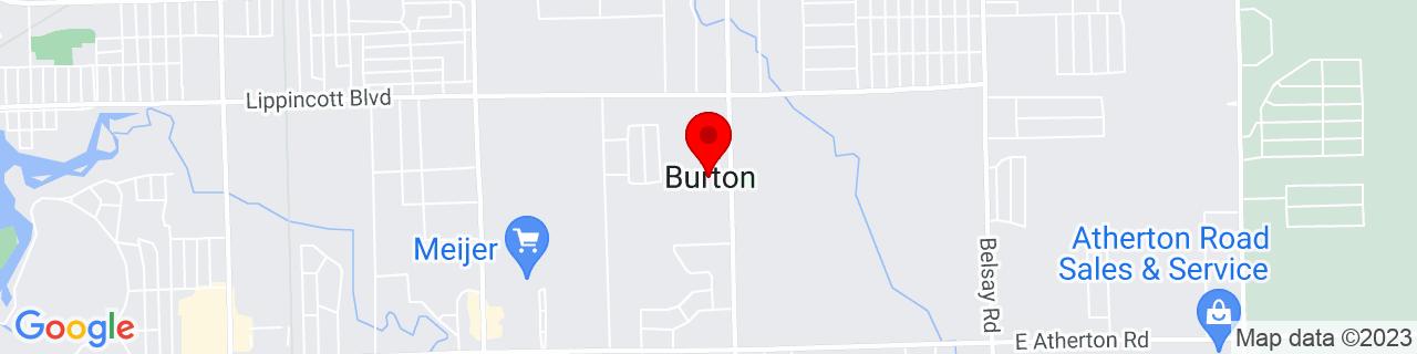 Google Map of 42.99944444444444, -83.61638888888888