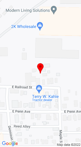 Google Map of Terry W. Kahle 420 E. Raolroad Street, Knox, PA, 16232
