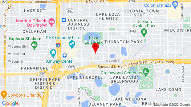 Google Map of 420 E. Church Street, Orlando, FL 32801