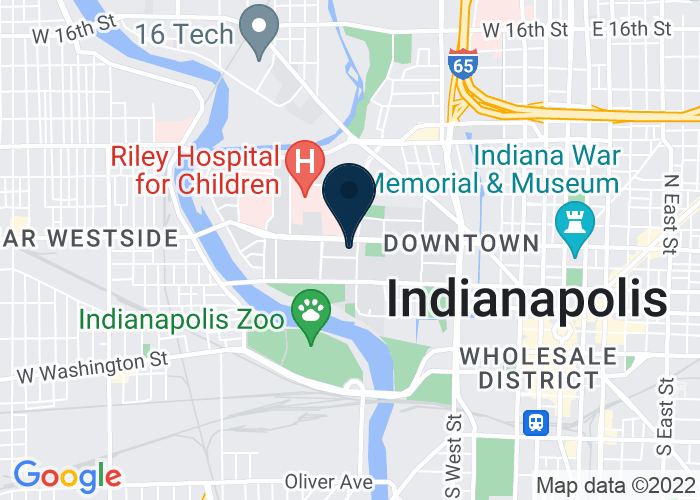 Map of 420 University Blvd, 4th Floor, Indianapolis, IN 46202, United States