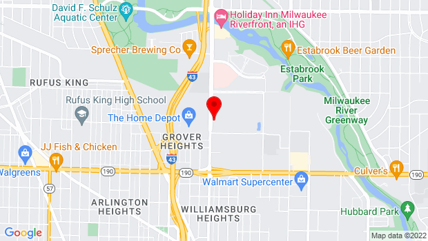 Google Map of 4200 N Port Washington Road, Milwaukee, WI
