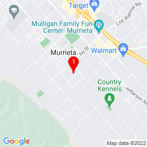 Google Map of 42025 Manista Way Murrieta, CA 92562