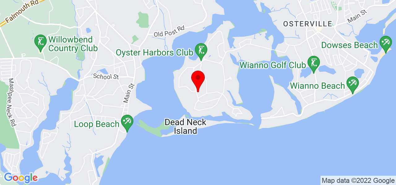 Google Map of421 Grand Island Dr Osterville MA