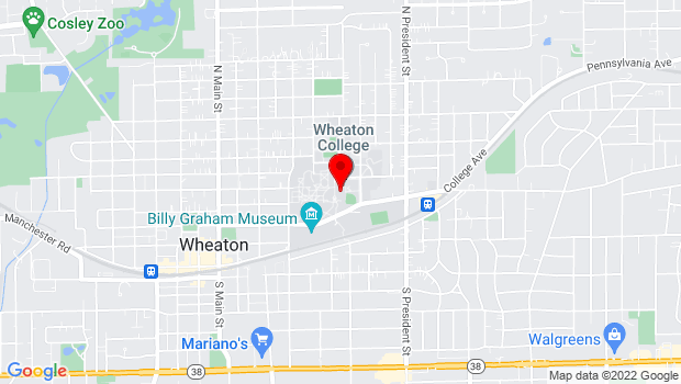 Google Map of 421 N. Chase St., Wheaton, IL 60187