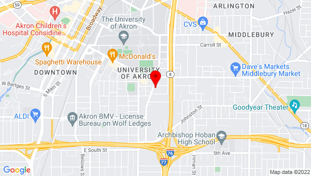Google Map of 421 Spicer St, Akron, OH 44311