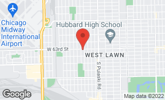 Map of 4211 West 63rd Street #2 CHICAGO, IL 60632