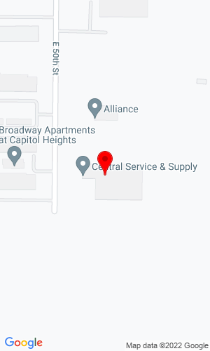 Google Map of Central Service and Supply, Inc. 4219 E 50th Street, Des Moines, IA, 50317
