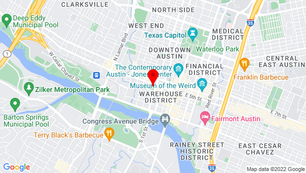 Google Map of 422 Guadalupe St, Austin, TX 78701