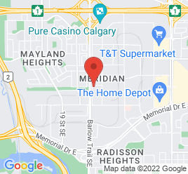 Google Map of 422+Meridian+Road+NE%2CCalgary%2CAlberta+T2A+2N6