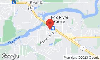 Map of 422 Lincoln Avenue B FOX RIVER GROVE, IL 60021