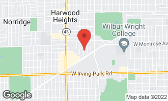 Map of 4237 North Newland Avenue HARWOOD HEIGHTS, IL 60706