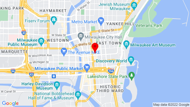 Google Map of 424 E. Wisconsin Avenue, Milwaukee, WI 53202