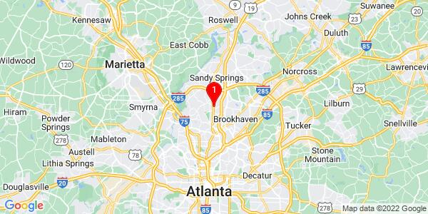 Google Map of 4247 deming circle atlanta