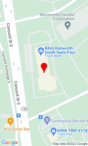 Google Map of Rihm Kenworth 425 Concord Street S,  South St. Paul, MN, 55075