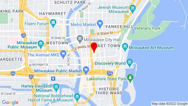 Google Map of 425 East Mason Street, Milwaukee, WI 53202
