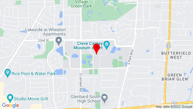 Google Map of 425 Fawell Blvd, Glen Ellyn, IL 60137