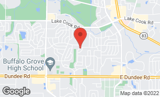 Map of 425 White Pine Road BUFFALO GROVE, IL 60089